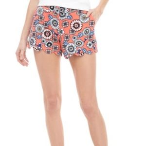 Crown & Ivy Shelby Scalloped Hem Shorts NWT